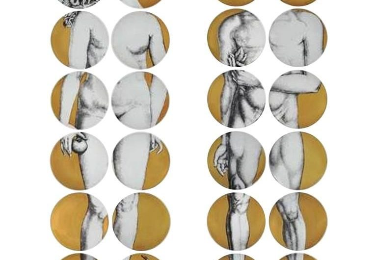 Dining on Art: Adam and Eve Luxury Plates by Piero Fornasetti