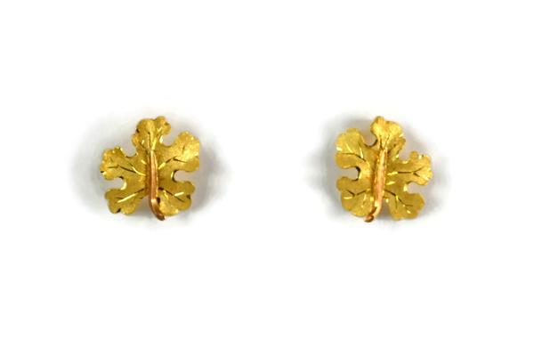 Buccellati Acanthus Leaf Earrings