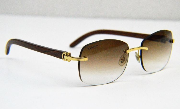 Cartier Bubinga Wood Sunglasses