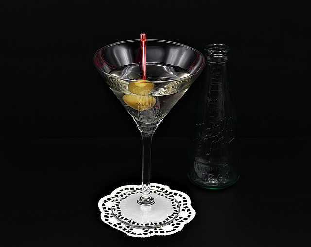 Martini Olive Glass Bottle Alcohol